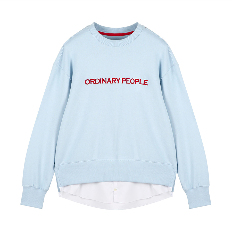 a8775e047848 Ordinary People Ordinary Layered Mtm Pastel Blue Shirt | W Concept