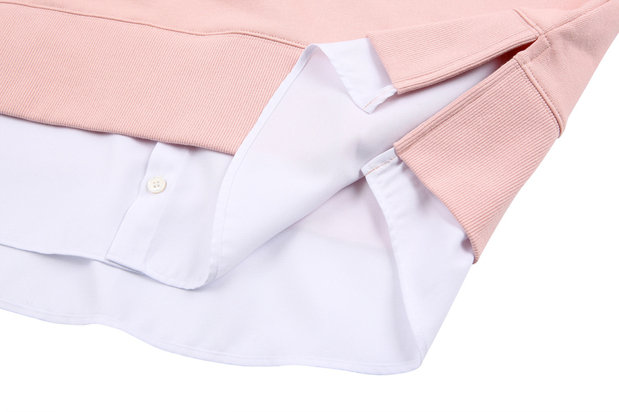 c9986fb06067 오디너리피플(ORDINARY PEOPLE) [Unisex] ORDINARY LAYERED MTM PASTEL PINK SHIRT