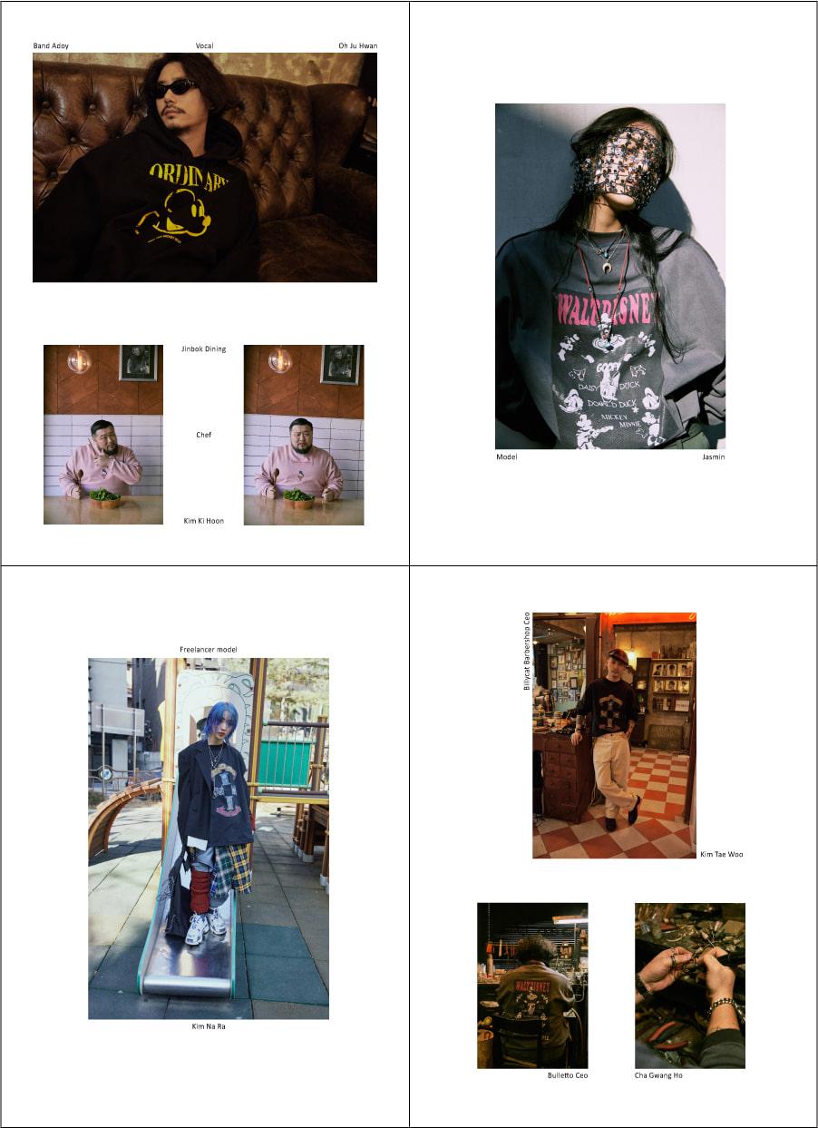 오디너리피플(ORDINARY PEOPLE) type B.[DISNEYxOP] donald duck charcoal sweat shirt